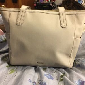 Fossil gray shoulder bag